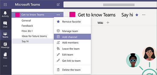 Microsoft Teams channels